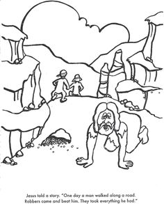 another good samaritan coloring page more at the same site