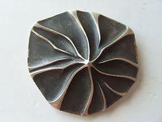 Studio Designer Ronald H Pearson Modernist Mid Century Sterling Silver Brooch