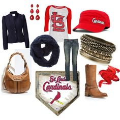 """CARDINAL LUV"" by browneyedgurl111580 on Polyvore"