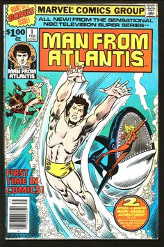 MAN FROM ATLANTIS #1 (Double-sized) 1978 MARVEL COMICS