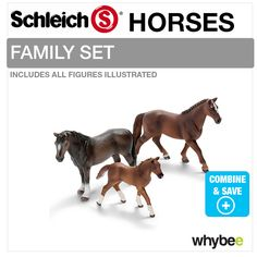schleich family horse | SCHLEICH-TOY-STABLE-42110-COMPLETE-WITH-CHOICE-OF-HORSE-FAMILY-SET ...