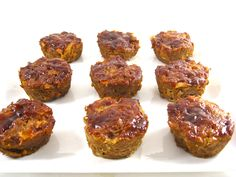 Skinny Meatloaf Muffins with BBQ Sauce - 4pts+
