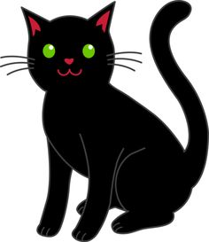 halloween black cat and rip tombstone clip art clip art rh pinterest co uk  free clipart scared cat