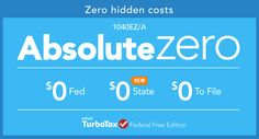 TurboTax Absolute Zero: The No-Cost Tax Return #Absolute0 #cg #sponsored