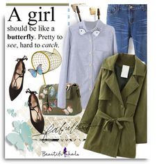 Beautifulhalo.com: A girl should be like a butterfly. by hamaly on Polyvore featuring moda, French Sole FS/NY, Valentino, Yves Saint Laurent, cool, ootd, CasualChic and DenimStyle