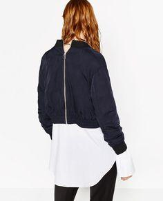 a43864b6 Cropped, Hooded Jacket, Bomber Jacket, Bombers, Zara, Product Design,  Hooded Bomber Jacket, Hooded Cardigan, Bomber Jackets