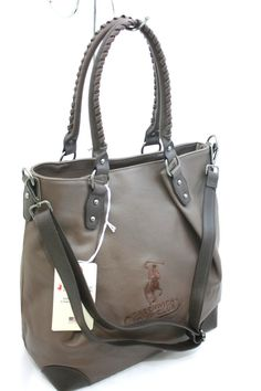 Borsa Donna Shopping Grande Greenwich Polo Club Art040-6 Ecopelle Marrone