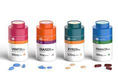 Drug Packaging, Medical Packaging, Cosmetic Packaging, Brand Packaging, Packaging Design, Label Design, Usana Vitamins, Beauty Vitamins, Pill Bottles