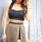 Black crop top and skirt - LikeaLady.net