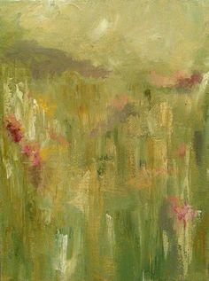 Raspberry Meadow Original Landscape Oil Painting by LamaArt