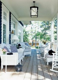 I am just imagining myself sitting on this porch and relaxing...