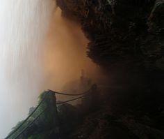 behind the waterfall - Salto El Sapo, Canaima, Venezuela