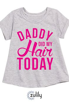 8d2b72d7 Instant Message Athletic Heather 'Daddy Did My Hair Today' A-Line Tee -  Toddler & Girls