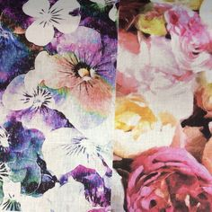 The Florals! Prints on linen by Frankie and Swiss.
