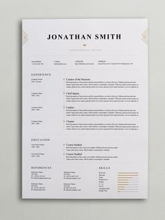 resume template 110540 pinterest resume cover letter template