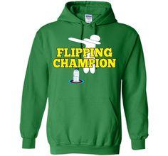 Water Bottle Flipping Tshirt Champion Dabbing Funny