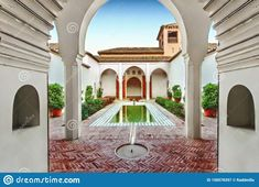 Photo about Picture of Alcazaba fortress of inside yard. Image of castle, cityscape, city - 158578397 Pictures For Sale, Malaga Spain, Andalucia, View Image, Editorial Photography, September, Castle, Yard, Mansions