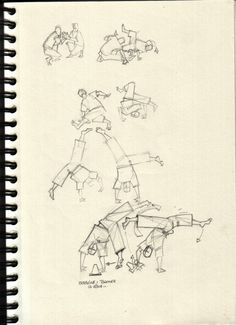 Croquis : Capoeira - étude de mouvements [ #sketch #drawing #capoeira ]