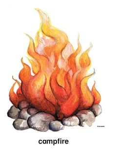 Campfire by Scholastic Small Canvas Paintings, Canvas Art, Campfire Drawing, Drawing Flames, Fire Sketch, Fireplace Drawing, Flame Tattoos, Fire Tattoo, Fire Art
