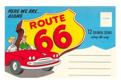 Post Card Folder, Route 66