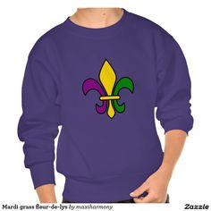 Mardi grass fleur-de-lys pullover sweatshirts