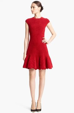 Alexander McQueen Quilted Jacquard Knit Dress