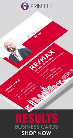 Remax business cards that bring results. Customize the free designs to your needs. Free Business Cards, Business Card Size, Business Names, Business Branding, Business Card Design, Branding Design, Logo Design, Bussiness Card, Postcard Design