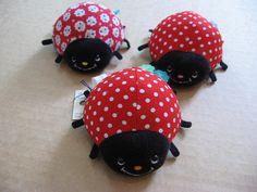 Ladybug pin cushions