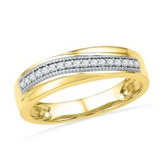 Share & Earn earn Bonus reward points toward fine jewelry 10k Yellow Gold W... Check it out here! http://shirindiamond.net/products/10k-yellow-gold-womens-round-diamond-wedding-anniversary-band-1-6-cttw-101380?utm_campaign=social_autopilot&utm_source=pin&utm_medium=pin