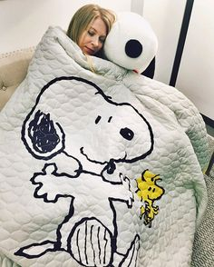 Chilly first day of Spring? Try snuggling up under this Snoopy quilt from @walmart!