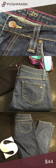 Kate Spade 'Play Hooky' skinny jeans size 26! Open to reasonable offers, so please use the Offer button! Kate Spade size 26 play hooky skinny jeans. In excellent condition, only worn a couple times. Inseam = 29 inches, Rise = 7 inches, Waist = ~27 inches. kate spade Jeans Skinny