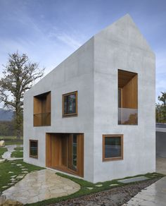 The larger-than-it-looks double house, Geneva, by Clavienrossier Architectes.like a dolls house but a visionary spendour Architecture Résidentielle, Contemporary Architecture, Russian Architecture, Classical Architecture, Sustainable Architecture, Double House, Casas Containers, Villa, Home Fashion