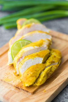 Curry yogurt chicken marinade has just 5 ingredients and can be prepared in under 5 minutes! Perfect for jazzing up your chicken routine and is delicious served with roasted potatoes, naan bread, or over cauliflower rice.#sweetpeasandsaffron #chickenbreast #marinade #mealprep