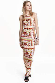 Vestido largo estampado | H&M