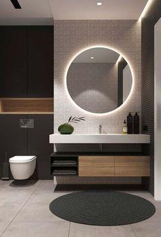 Examples Of Minimal Interior Design For Bathroom Decor 45 de. - Examples Of Minimal Interior Design For Bathroom Decor 45 design - Modern Bathroom Design, Simple Bathroom, Bathroom Interior Design, Modern Interior Design, Interior Ideas, Modern Toilet Design, Modern Mirror Design, Bath Design, Interior Lighting Design