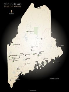 Stephen King's map of the state of Maine