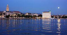 Anochece en Split   Croacia