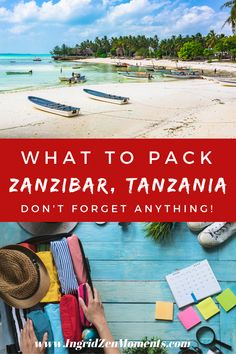 The complete packing list for when you vizit Zanzibar Tanzania. Before planning my trip on the African island, I've done my reaserch and made sure I have all that I needed aldo for the Tanzania safari. What to wear in Zanzibar, what clothes to pack, and the best way to dress.