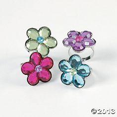 Flower Jewel Rings