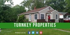 Turnkey properties offer the returns that you always want! We have assortment of properties to get the passive income you want! #realestate #investment #maxproperties #investors #cashflow #turnkeyproperties #property #investing #home #house #money #passiveincome