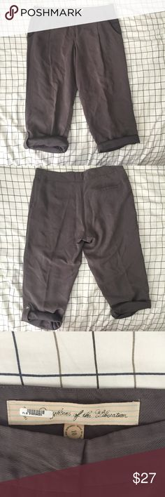 Anthropologie Daughters of the Liberation Size 10 Anthropologie Daughters of the Liberation Women's Size 10 Slouchy Trousers   Size: 10  Materials: 66% Cupro 34% polyester  Measurements: Waist: 17in Hips: 21in Inseam: 25in Length: 30in Anthropologie Pants