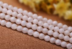 4mm-6.6mm Natural White Moonstone Beads, with Blue Luster, Smooth Round, 15.4 Inch Strand (GN14)