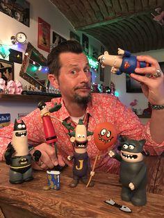 Playtime with DC Nation Ardman 😱  #dcnation #aardman #dc #dccomics #joker #batman #superman #catwoman #robin #artist #artistlife #artgallery #nerd #geek #nerdstuff #artnerd #playtime #fun #collection #collector