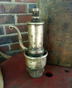 Antique Solid Brass Steam Engine / Boiler Pressure Release - Turn off the century 12 Inch Kunkle Valve