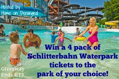 Home on Deranged - Win 4 tickets to the Schlitterbahn Waterpark of your choice!