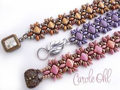 Oh Silkies! Bracelet Pattern by Carole Ohl by openseed on Etsy