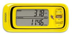 Omron HJA301 Pace and Distance Tracker Yellow >>> You can find out more details at the link of the image.