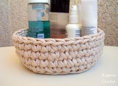 Un DIY de como hacer un cesto redondo de trapillo