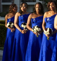 Royal Blue Bridesmaid Dress---- I love this dress... !!!!!!! But ...