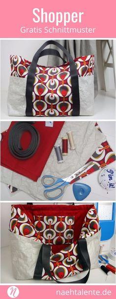 Heute möchte ich euch zeigen, wie man diese hübsche Einkaufstasche ...
